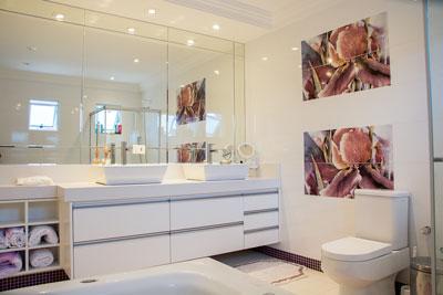 mała toaleta z prysznicem